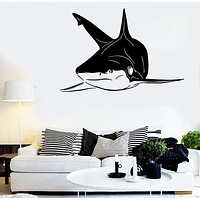 Wall Stickers Vinyl Decal Shark Fish Ocean For Bathroom Decor Unique Gift (ig145)