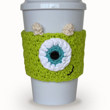 Mike Crochet Coffee Cup Cozy