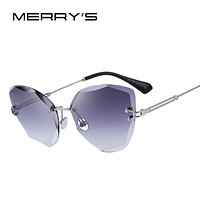 MERRYS DESIGN Women Rimless Sunglasses Gradient Lens UV400 Protection S6078