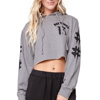 Been Trill Holiday Collection Cropped Fleece Hoodie - Womens Hoodie - Grey