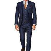 Suit Blue Check Hudson 3p P3985i | Suitsupply Online Store