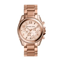 Michael Kors Blair Rose Gold-Toned Stainless Steel Ladies Chronograph Watch