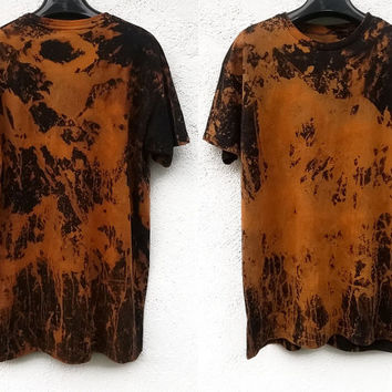 rare tie dye abstract artistic psychedelic oversized shirt // Abyss
