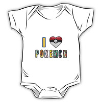 I Love Pokemon Kids Clothes