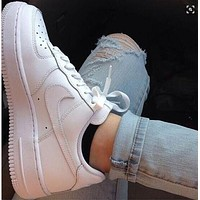 Air Force 1 NIKE Classic Popular Women Men Casual Running Sport Shoes Sneakers White
