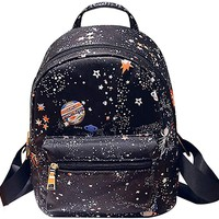 Camouflage Women Mini Backpack Nylon Leisure Daypack Printed Shoulder Bag Handbag Purse