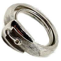Buckle Band Ring Avon Vintage Silver Tone Size 6-7 Signed r260