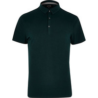 River Island MensGreen polo shirt