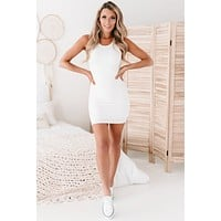Sure Thing Double Layered Tank Top Dress (Ivory)