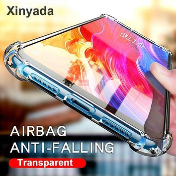 Clear Cover Case For Lenovo Z6 Pro Z6 Lite Youth Case Air Cushion Soft Silicone TPU Bumper Shockproof Gel Shell