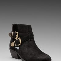 Steve Madden Cinch Bootie in Black Suede from REVOLVEclothing.com