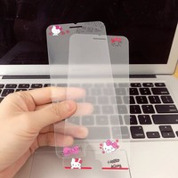 Japan Cutie Cartoon Print Hello Kitty Screen Protect Clear tempered glass Protector For iPhone8 7plus 6s Front Film