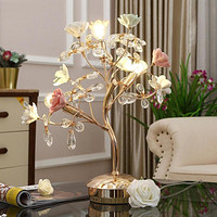 Table Lamp Rose Flower Desk Tree Lamp For Home Decor