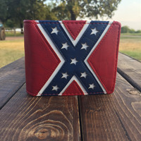 Bifold Rebel Flag Wallet