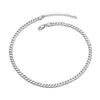 PROSTEEL 925 Sterling Silver Italian Cuban Link Curb Chain/Twisted Rope Chain, Solid Silver Necklace for Men Women,18''/20''/22''/24''/26''/28'', Come Gift Box 14.0 Inches cuban chain-width: 0.11inch(2.8mm)