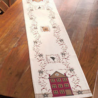 """72"""" Primitive Country Table Runner House Stars Kitchen Dining Room Decor New"""