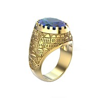 White and Gold Jerusalem Ring