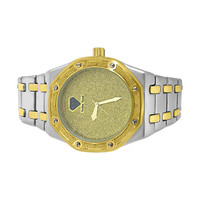 Real Diamond 2 Tone Octagon Watch