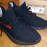 Adidas Yeezy Boost 350 V2 Black Red BRED Size 11 Pre-Owned with Box