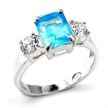 Sterling Silver Wedding Rings LOA457 - 925 Sterling Silver Ring with Synthetic