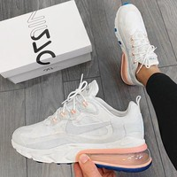Nike AIR MAX 270 REACT new air cushion casual sports shoes
