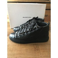Balenciaga Arena High Top Sneaker Size 42 Men's Black Leather