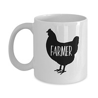 Chicken Lovers Mug - Chicken Farmer - 11 oz Gift Mug