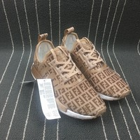 qiyif Adidas Boost Fendi x Nmd R1 Women Men Shoes Sneakers