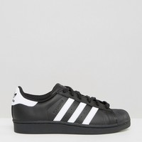 Adidas Originals Black And White Superstar Sneakers