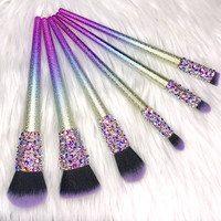 Swarovski Rainbow Glitter Makeup Brush Set