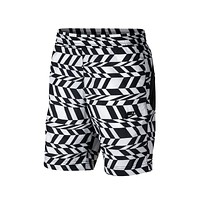 Nike Men's AOP Swoosh White Black Swoosh Short