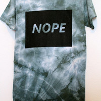 tie dye nope t shirt small