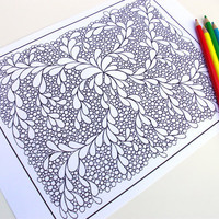 Printable Coloring Page Zentangle Inspired Pattern by JoArtyJo
