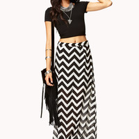Striking Chevron Maxi Skirt