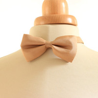 Light brown bow tie, naturally dyed tie,  silk bow tie, hand dyed tie, walnut dyed silk, eco dyed bow tie, gift for him, stocking stuffer