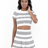 NO GREY AREA FLARE SKIRT SET
