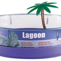 Lees Aquarium and Pet Deluxe Oval Turtle Lagoon 11x8x3