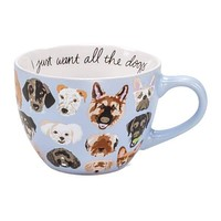 ABOUT FACE DESIGNS ALL THE DOGS MUG