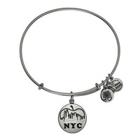 Alex and Ani NYC Skyline Charm Bangle - Rafaelian Silver Finish