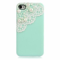 Lace with Pearl iPhone 4/4S Case from Hallomall