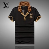 Men Louis Vuitton T-Shirt Top Tee
