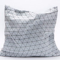 B & W Geometric Pillow
