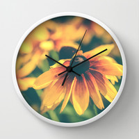 Bloom Wall Clock by Olivia Joy StClaire