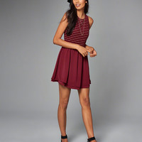 Womens Fitted Skater Dress | Womens Dresses & Rompers | Abercrombie.com