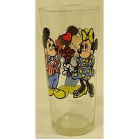 Pepsi Disney Mickey Minnie Mouse Glass 1978