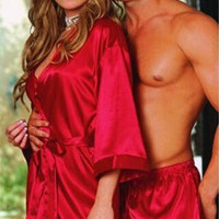 Women's Sexy Pyjamas Nightdress Sleep Dress Sexy Lingerie Bathrobe Sleepwear Robe Night Gown
