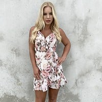 Magical Romance Floral Wrap Dress