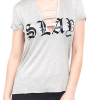 GREY SLAY ALL DAY TOP