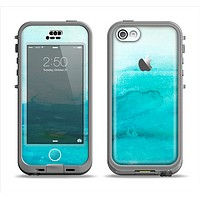 The Grungy Blue Watercolor Surface Apple iPhone 5c LifeProof Nuud Case Skin Set