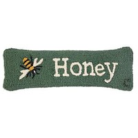 Honey Bee Lumbar Hooked Pillow 8ʺL X 24ʺW